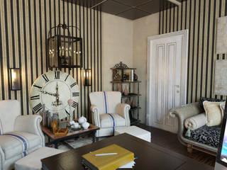 Коттедж - кабинет, холл: Рабочие кабинеты в . Автор – Первое Дизайн-Бюро,