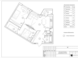 ул. Парашютная. Квартира 78.5м²: Гостиная в . Автор – www.noartist.net