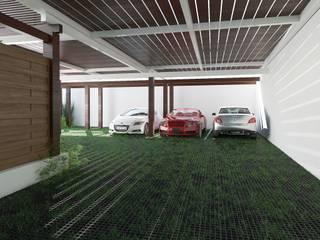 Estacionamento Garagens e arrecadações modernas por EU LISBOA Moderno