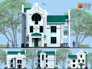 Загородный дом Ар Нуво Дома в стиле модерн от Fusion House Модерн