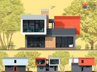 Вилла Барселона Дома в эклектичном стиле от Fusion House Эклектичный