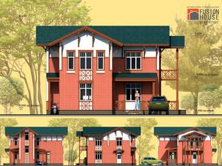 Главный фасад/фасады: Дома в . Автор – Fusion House