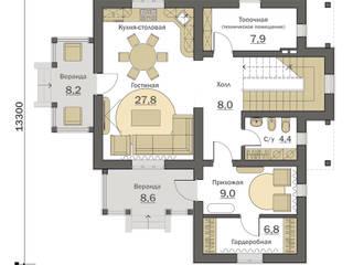 План первого этажа: Дома в . Автор – Fusion House