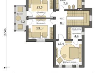 План второго этажа: Дома в . Автор – Fusion House