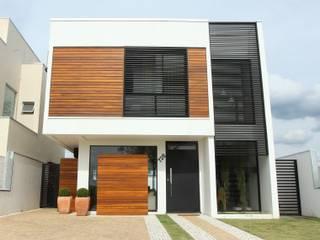 Modern Evler Taguá Arquitetura Modern Ahşap Ahşap rengi