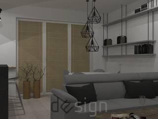 Żoliborz I | Wizualizacje: styl , w kategorii Salon zaprojektowany przez DW SIGN Pracownia Architektury Wnętrz