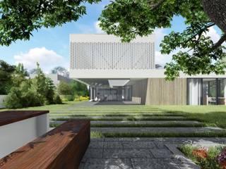 Rzut parteru: styl minimalistyczne, w kategorii Domy zaprojektowany przez 2L_studio