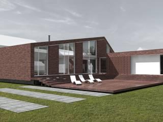 Elewacja ogrodowa: styl nowoczesne, w kategorii Domy zaprojektowany przez 2L_studio