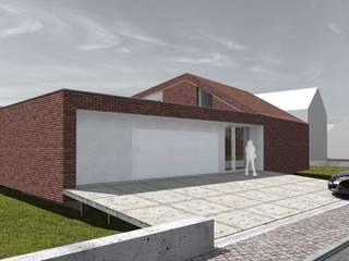 Elewacja frontowa: styl nowoczesne, w kategorii Domy zaprojektowany przez 2L_studio