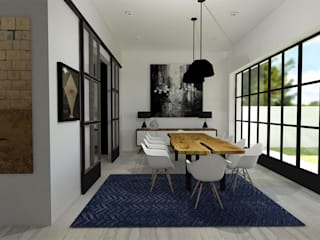 A Modern Dining Room by TAMEN arquitectura Modern