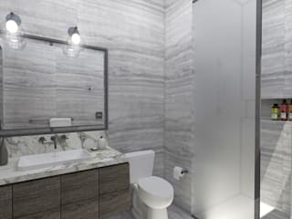 Bathroom by TAMEN arquitectura, Modern