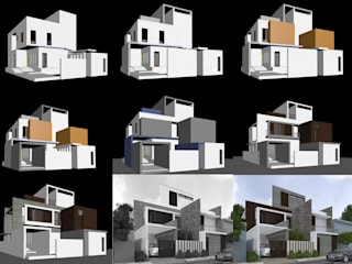 Bungalow Architecture Design Modern houses by DLEA Modern