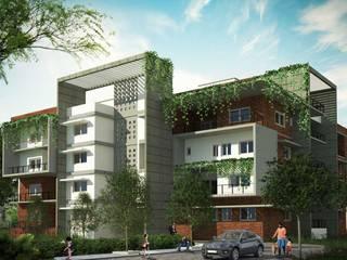 Apartment Architecture Design - Kilpauk:  Houses by DLEA