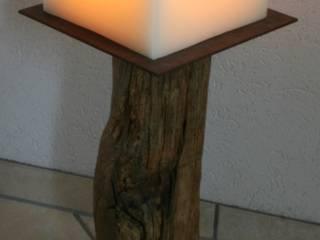Mehrdochtkerze, Kerze, 100 % Wachs, handgefertigt, 8 Dochte: modern  von Polarlichter-Kerzen,Modern