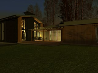 Dom w Częstochowie: styl , w kategorii Domy zaprojektowany przez Biuro Architektoniczno-Budowlane s.c.