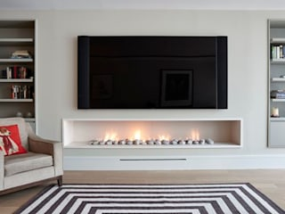 Bespoke Fireplaces Modern living room by The Platonic Fireplace Company Modern