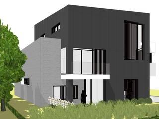 Linkerzijaanzicht voorgevel:  Huizen door AVENIRarchitecten bvba