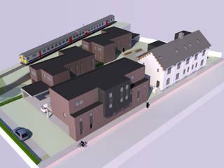 3D beeld site:  Huizen door AVENIRarchitecten bvba