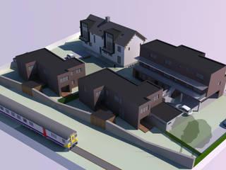 Appartementen sociale huisvesting Moderne huizen van AVENIRarchitecten bvba Modern
