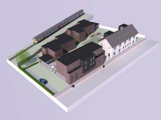 Appartementen sociale huisvesting:  Huizen door AVENIRarchitecten bvba