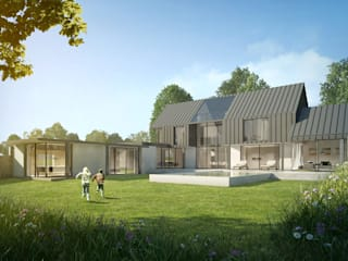New Build Family Home in Surrey od ArchitectureLIVE Nowoczesny