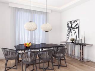 Modern apartment - Istanbul 2016:  Dining room by Ammar Bako design studio