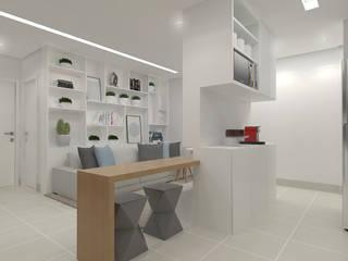 Apartamento EcoVitta: Salas de estar  por Nayla Diniz Arquitetura