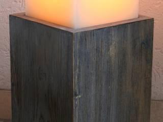 Mehrdochtkerze, Kerze, 15 x 15 x 12 cm, 4 Dochte:   von Polarlichter-Kerzen