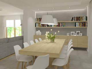 Dom: styl , w kategorii Jadalnia zaprojektowany przez EMMSTUDIO Magdalena Muszytowska