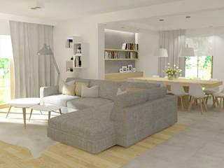 Dom: styl , w kategorii Salon zaprojektowany przez EMMSTUDIO Magdalena Muszytowska