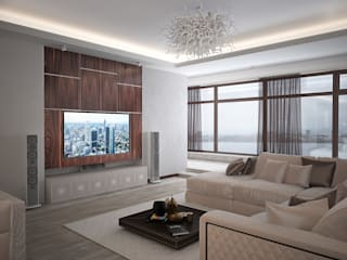 Eclectic style living room by премиум интериум Eclectic