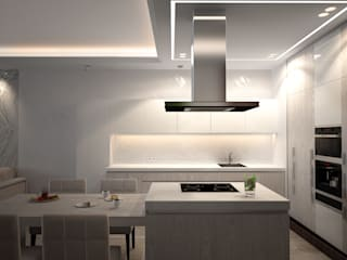 Eclectic style kitchen by премиум интериум Eclectic