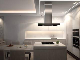 Современная квартира с элементами ар-деко Кухни в эклектичном стиле от премиум интериум Эклектичный