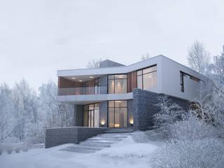 Дом в лесу Дома в стиле минимализм от премиум интериум Минимализм