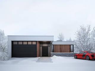 Minimalist houses by премиум интериум Minimalist