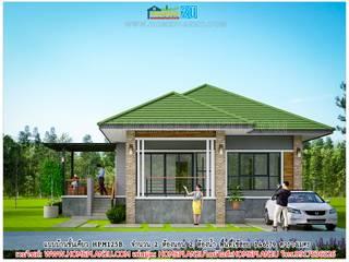 แบบบ้านชั้นเดียว HPM125B:   by แบบแปลนบ้านสำเร็จรูป
