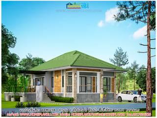 แบบบ้านชั้นเดียว HPM125B โดย แบบแปลนบ้านสำเร็จรูป