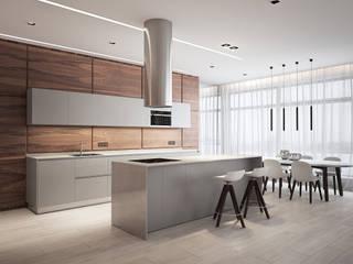 Minimalist kitchen by премиум интериум Minimalist