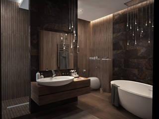 панорамная квартира с видом на Кремль: Ванные комнаты в . Автор – премиум интериум