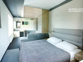 Wnętrza apartamentów w Hotelu Białym w Skorzęcinie: styl , w kategorii Salon zaprojektowany przez WUTOTU architektura