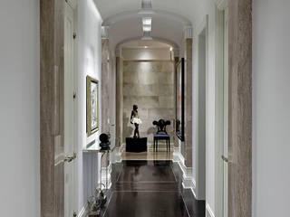 Douglas Design Studio Classic style corridor, hallway and stairs Grey