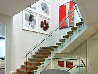 Douglas Design Studio Modern corridor, hallway & stairs