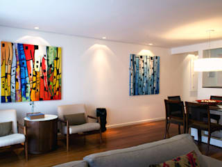 RAWI Arquitetura + Design Ruang Keluarga Modern