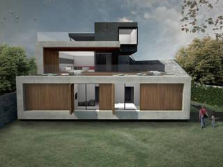 CASA MIRANTE: Casas  por RAWI Arquitetura + Interiores,Minimalista