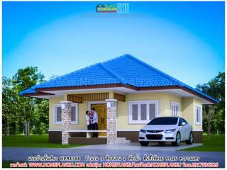 แบบบ้านชั้นเดียว HPM138ฺB โดย แบบแปลนบ้านสำเร็จรูป