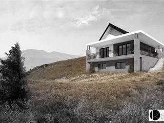 Dom W Beskidach: styl nowoczesne, w kategorii Domy zaprojektowany przez KONTRAST STUDIO