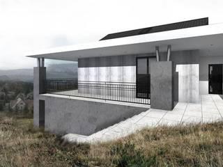 Dom w Trójwis Beskidzkiej: styl nowoczesne, w kategorii Domy zaprojektowany przez KONTRAST STUDIO
