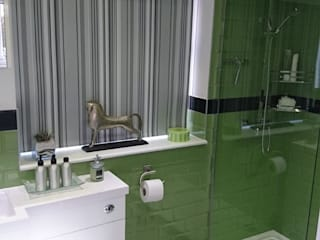 Bathroom Refurbishment and Re-design Modern style bathrooms by Kerry Holden Interiors Modern