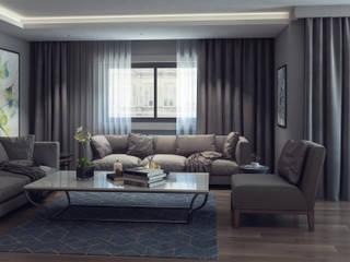 De I Studio - 3D Mimari Görselleştirme ve Animasyon Hizmetleri – Lounge:  tarz Oturma Odası