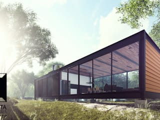 モダンな 家 の Cornetta Arquitetura モダン